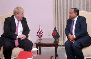 Foreign Secretary Boris Johnson's Press briefing in Bangladesh'