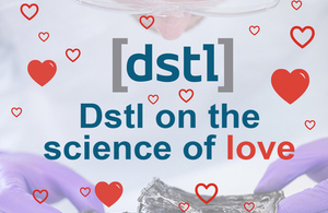 Dstl logo with hearts