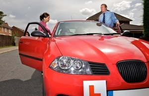 Driving instructor and pupil