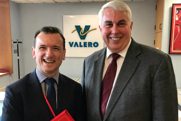Secretary of State for Wales Alun Cairns at Valero in Pembroke