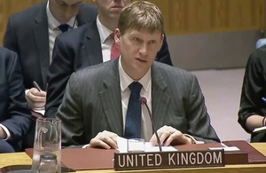 Ambassador Jonathan Allen at the Security Council briefing on the Middle East