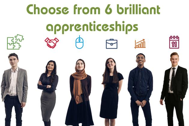 Choose from 6 brilliant apprenticeships