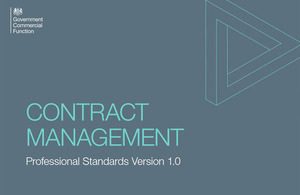 Contract management document front page