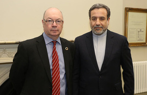 Minister for the Middle East meets with Iranian Deputy Foreign Minister