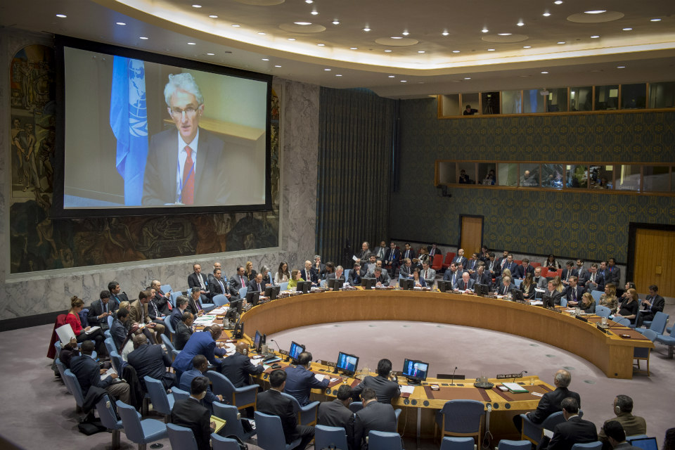 UN Security Council briefing on Eastern Ghouta (UN Photo: Loey Felipe)