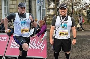 PC Frost during his marathon fund raising last year