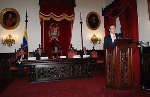 Presentation of academic report on climate change Venezuela