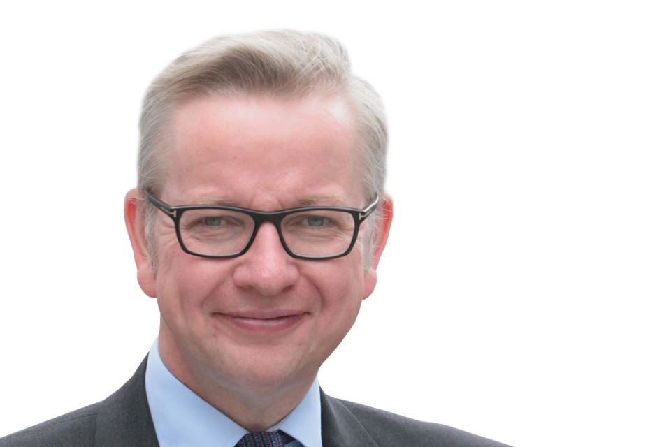 Formal head and shoulders picture of Michael Gove MP