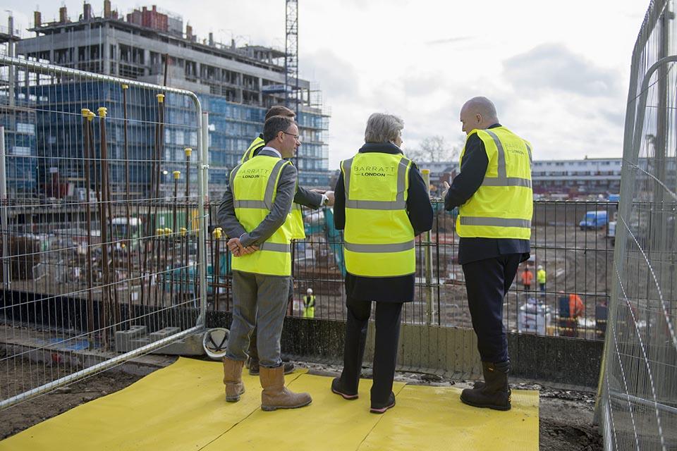 PM housing visit