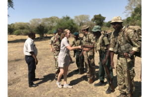 British High Commissioner, Ms Holly Tett, greets the troops