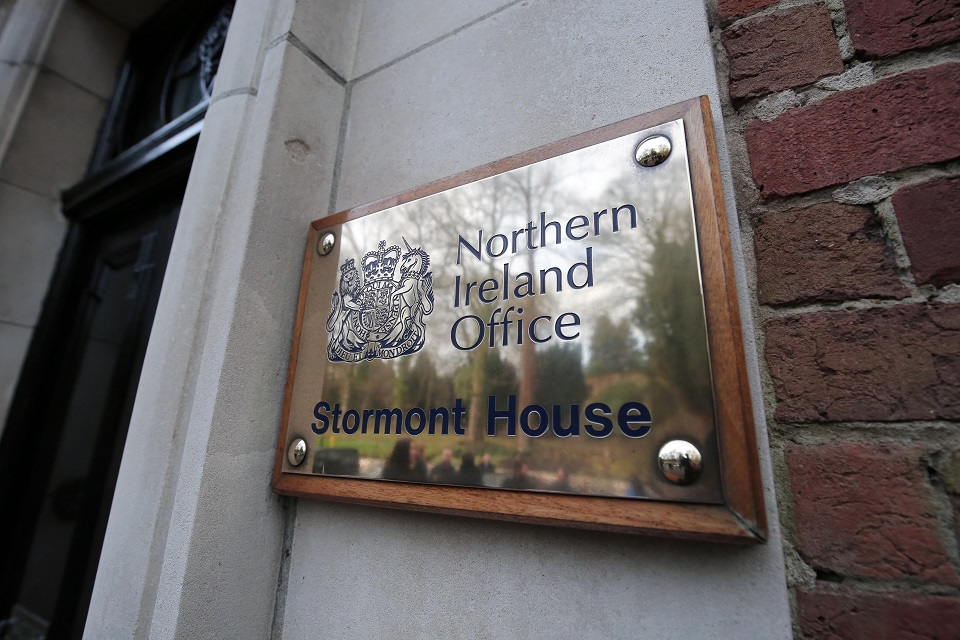 Northern Ireland Office brass plate, Stormont House