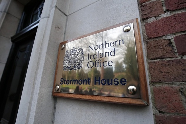 Northern Ireland Office brass plate, Stormont House