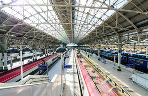 Image of the view at Manchester Piccadilly station.