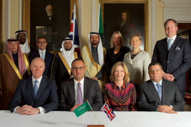 UK companies with Minster of State for Care Caroline Dinenage and Saudi Minister of Health Dr Tawfiq Al Rabiah