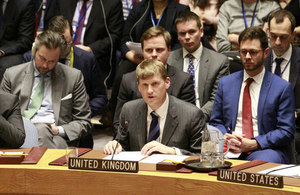 Ambassador Jonathan Allen at the UN Security Council briefing on Salisbury.