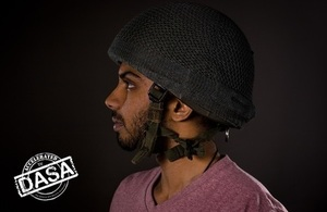 Acoustic yarn woven over soldiers helmet funded by DASA