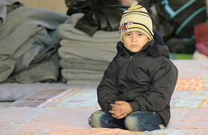 A Syrian boy in Aleppo