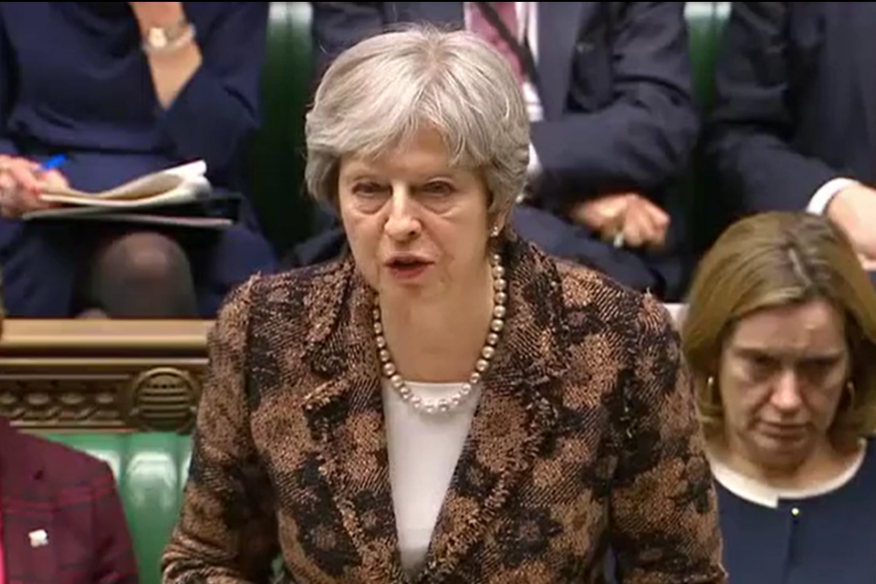 PM Commons Statement On Salisbury Incident: 12 March 2018   GOV.UK