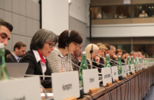 Ambassador Sian MacLeod delivering statement to the OSCE Permanent Council, 15 March
