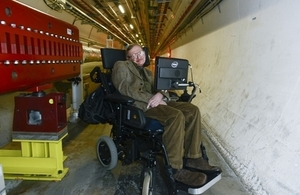 Professor Stephen Hawking at CERN