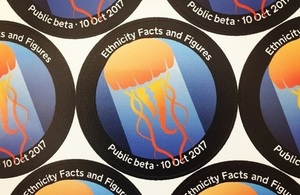 badges, known as mission patches, to mark to launch of the Ethnicity facts and figures service