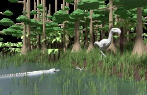 Ancient marsh land