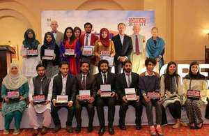 Muhiba Ahmed wins the British High Commission's GREAT Debate competition
