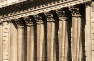 Pillars outside Bank of England