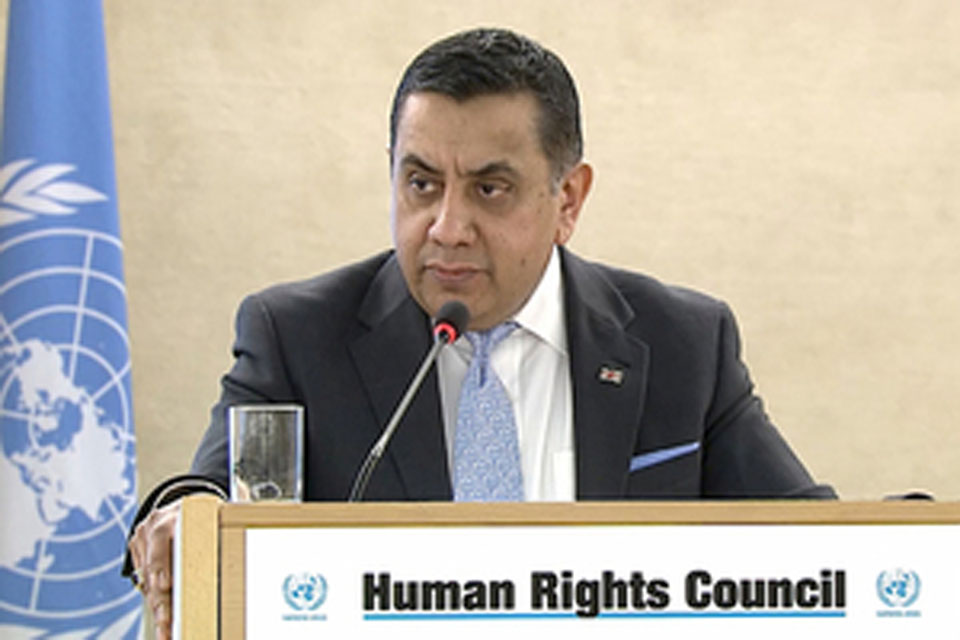Lord Ahmad marks 70th anniversary of UN Human Rights Declaration