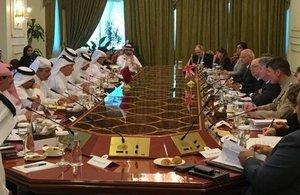 Alistair Burt co-chairs the fourth Qatar-UK Sharaka dialogue
