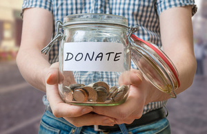 Photo of a donation jar