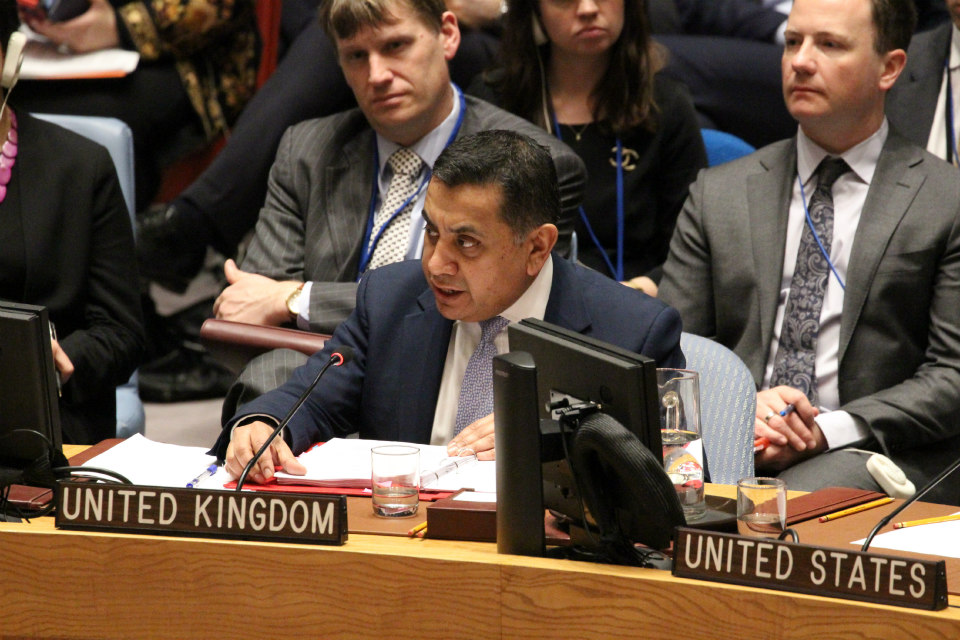 Lord Ahmad in Security Council Debate on Peacekeeping Operations.