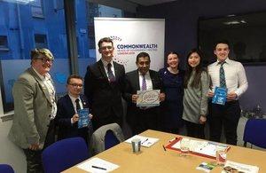 Lord Ahmad in Edinburgh meeting young people involved in the Summit