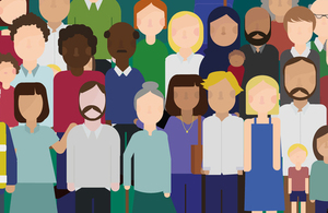 Graphic of a large group of people