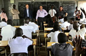 Matthew Rycroft, Permanent Secretary of the UK Department for International Development (DFID), on a visit to South Sudan