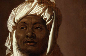 Head of an African Man Wearing a Turban