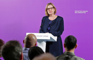 Home Secretary launching the Serious Violence Strategy