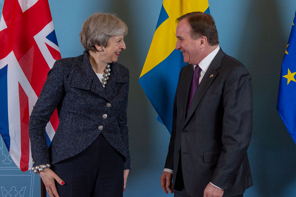 PM Theresa May in Sweden