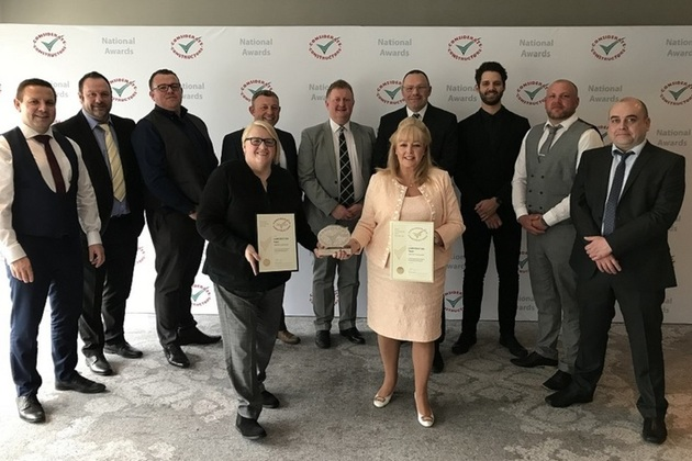 Members of LLWR and GRAHAM Construction receive Gold award from CCS