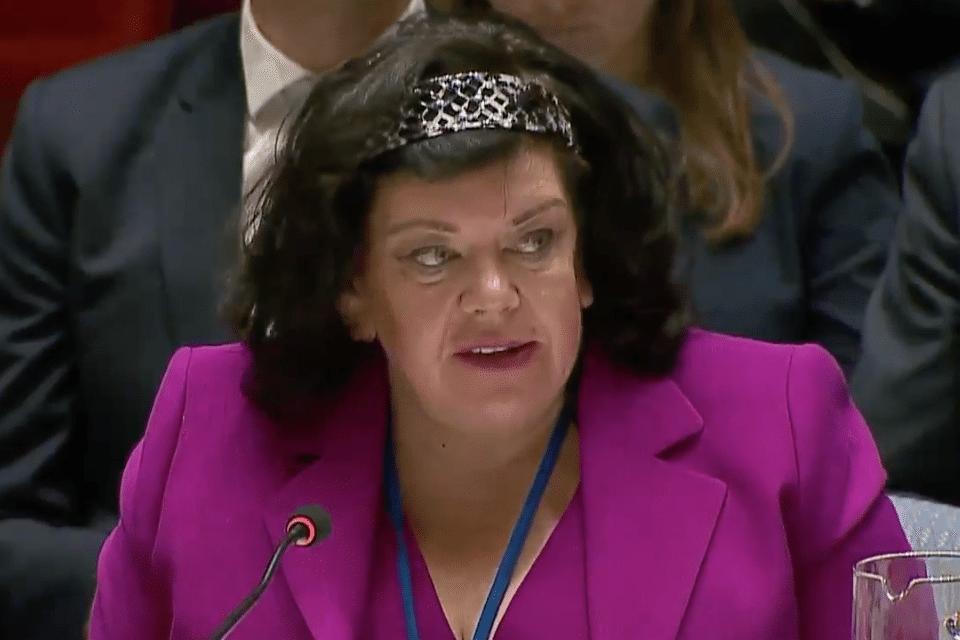 Karen Pierce at UN