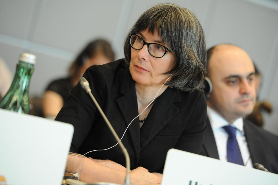 Ambassador Sian MacLeod delivering statement to the OSCE Permanent Council, 12 April 2018