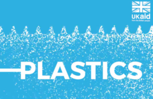 "logo - with word ""Plastic"" on an ocean background"