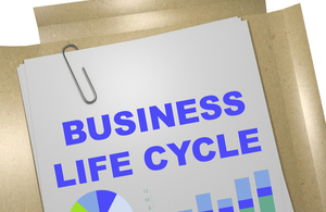 Paper report showing title Business Lifecycle