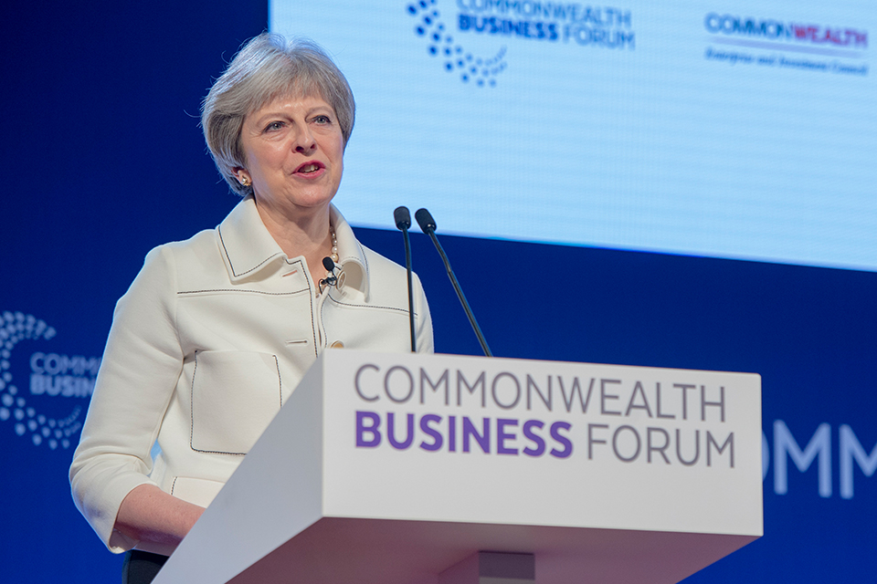 PM speaks at the Commonwealth business forum