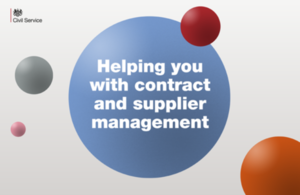 Helping you with managing suppliers and contracts in government
