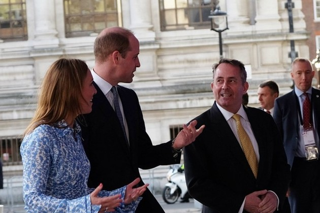 The Duke of Cambridge with Dr. Liam Fox and DIT Permanent Secretary Antonia Romeo