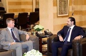 PM Hariri meets with Ambassador Hugo Shorter