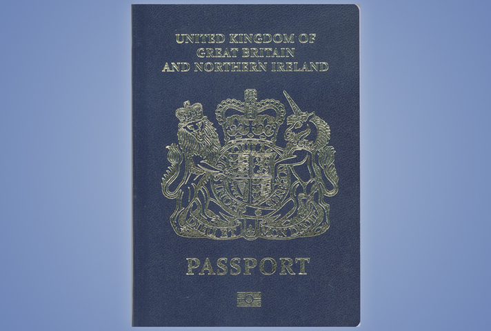 Blue passport.