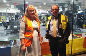 Lord Bourne and Ann Jessopp, CEO of The Royal Mint