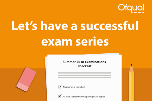 "Poster saying, ""Let's have a successful exam series""."